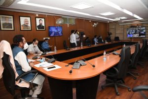Mukhtar Abbas Naqvi directs senior officials of more than 30 state waqf boards to ensure strict and honest implementation of lockdown, curfew and social distancing during the holy month of Ramadan in view of Corona pandemic