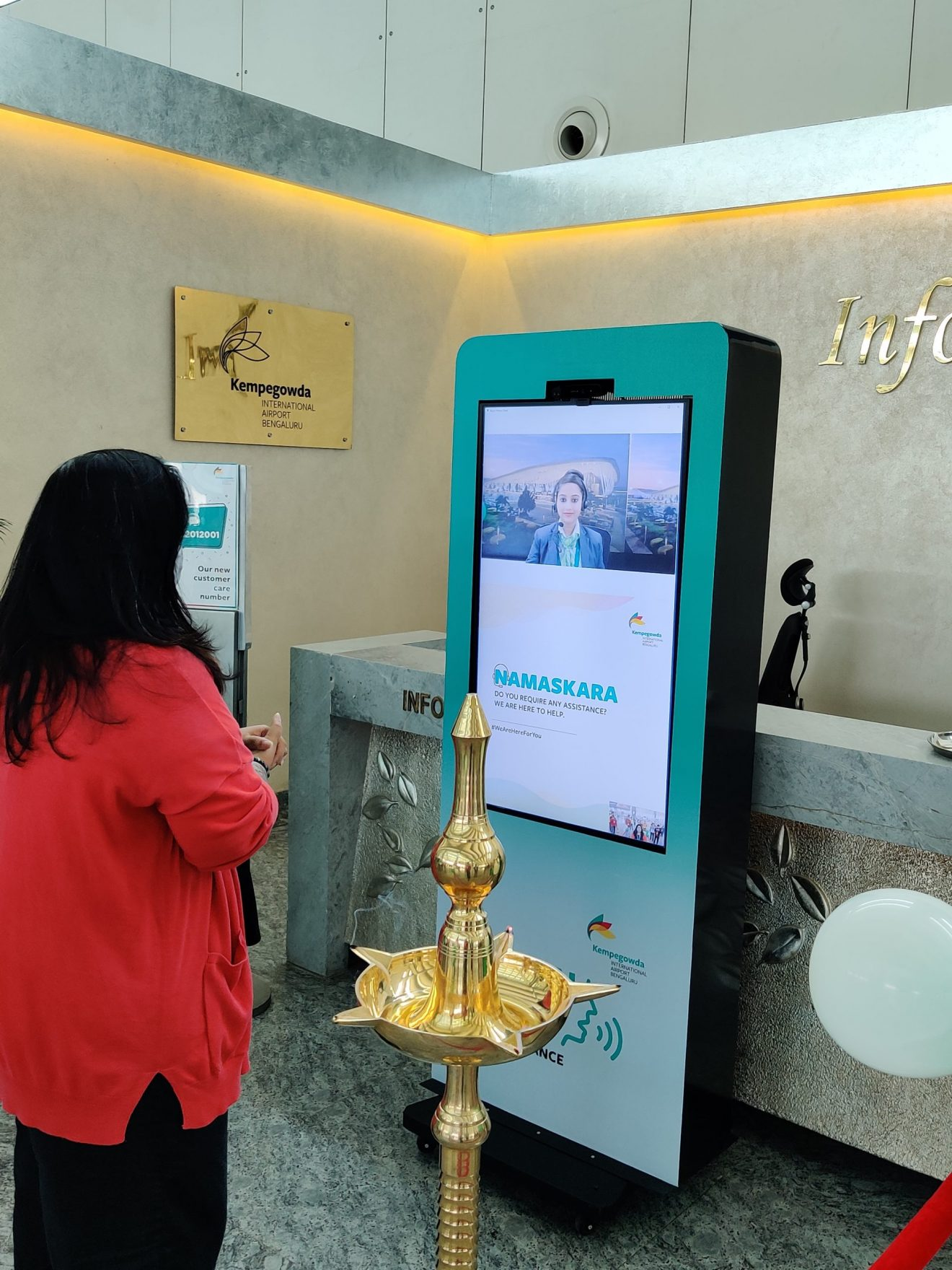 Information Desk at BLR Airport Goes Virtual
