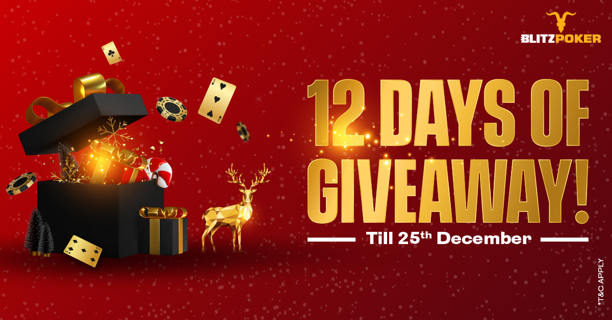 BLITZPOKER welcomes the Holiday season with 12 Days of Giveaways