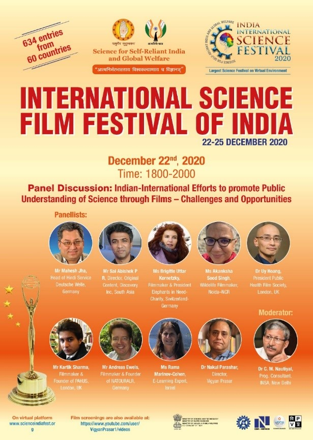 International Science Film Festival of India opens in IISF-2020