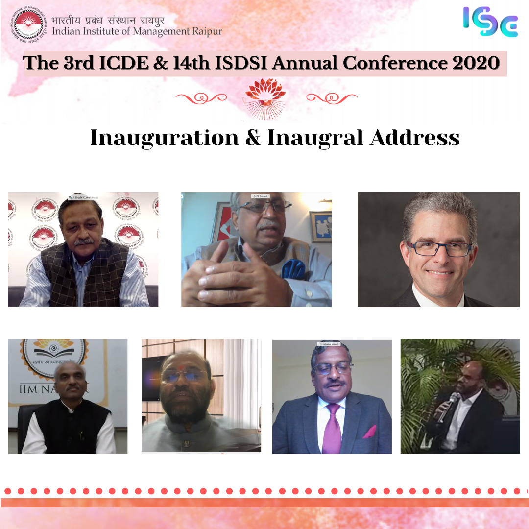 IIM Raipur concludes first day of its 3rd ICDE & 14th ISDSI Annual Conference