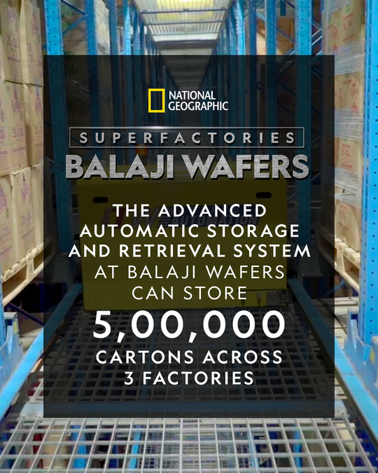 National Geographic India's SUPERFACTORIES explores the world of the Indian snack industry with Balaji Wafers