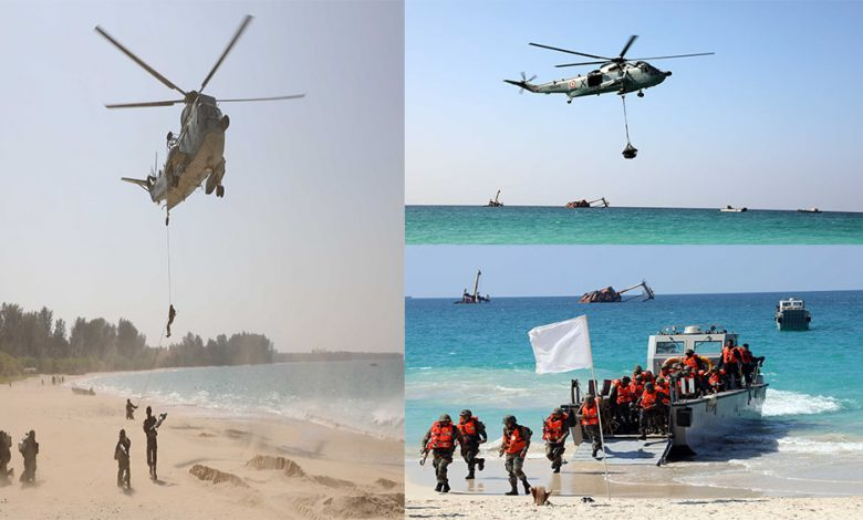 Indian Navy conducts Joint Exercise with Army and Air Force