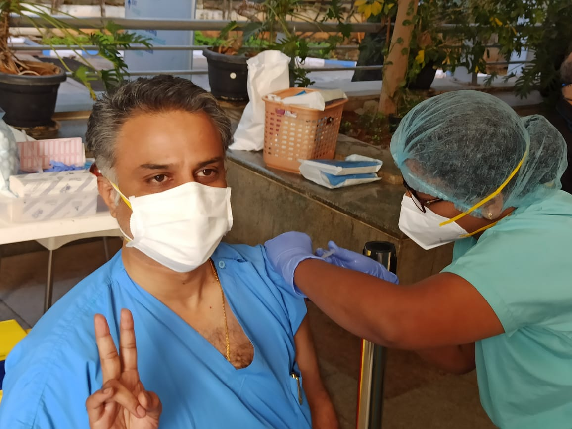 Frontline workers at Columbia Asia Hospital receive first COVID19 Vaccine