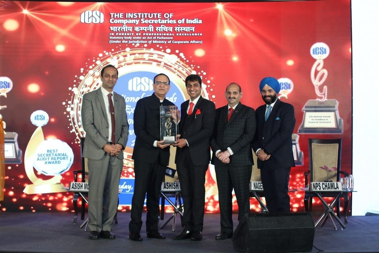 ITC Limited conferred the ICSI National Award for Excellence in Corporate Governance