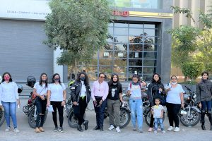 Royal Enfield organized a Women Special Bike Ride