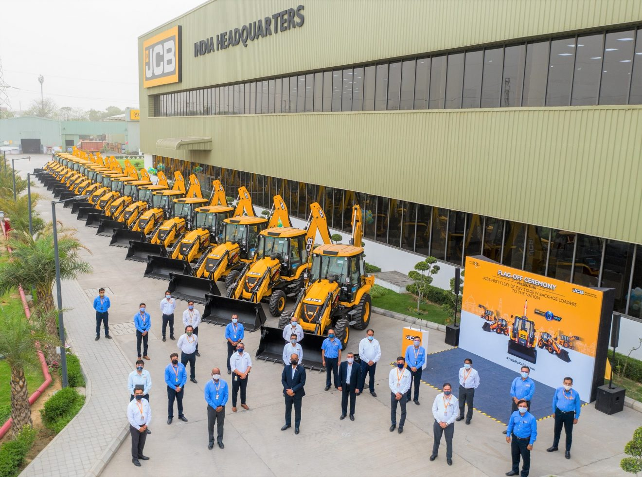JCB India launches its range of CEV Stage IV Backhoe Loaders