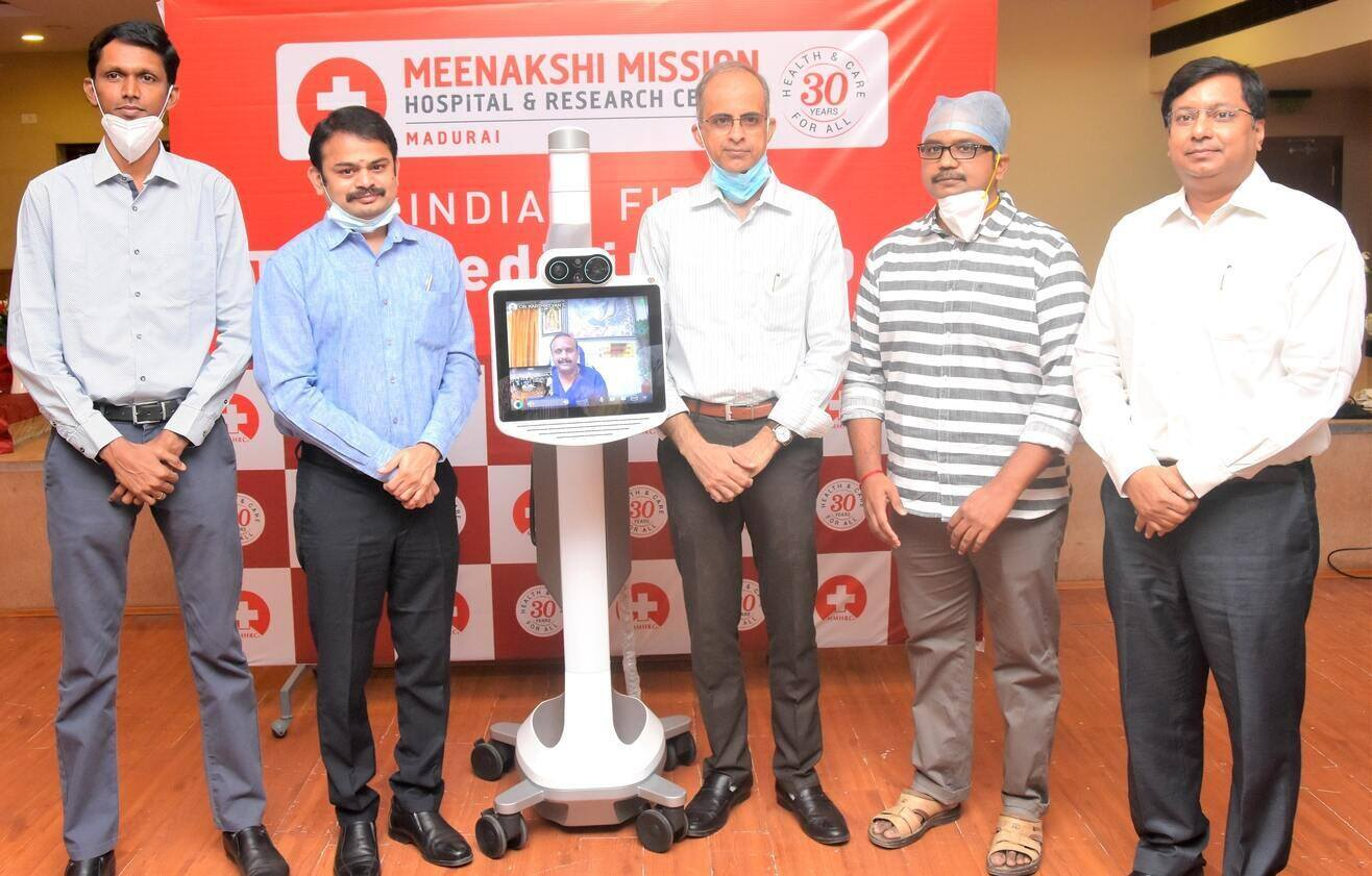 Meenakshi Mission Hospital Becomes India's First Hospital to Introduce Telemedicine Robots