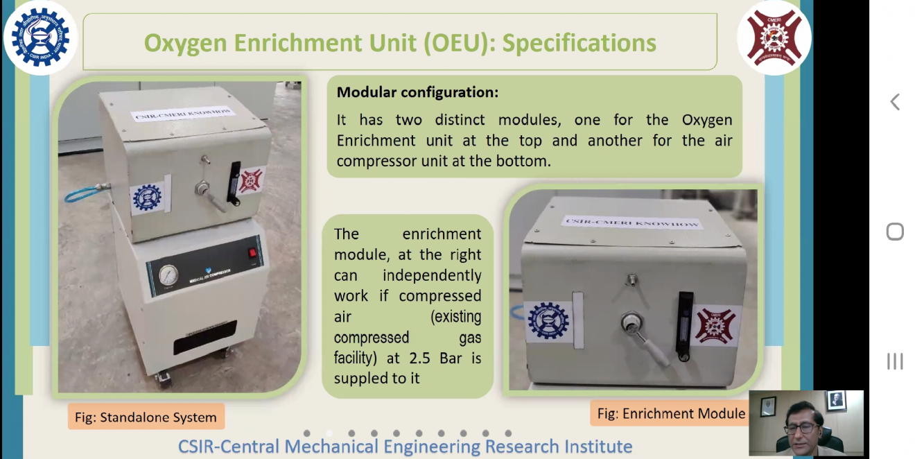 Cuttack on Oxygen Enrichment Unit developed by CSIR-CMERI