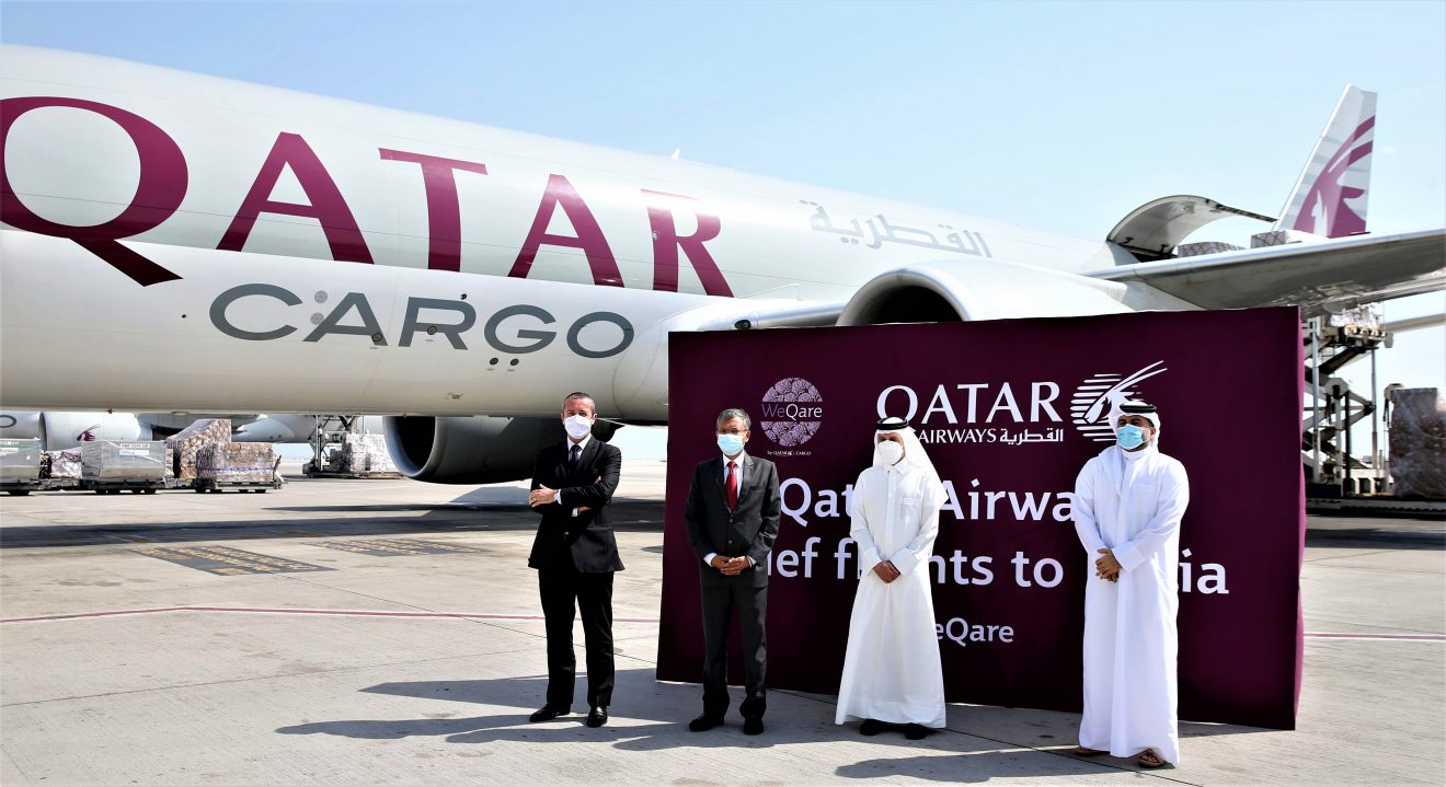 Qatar Airways Cargo Convoy Departs to India Carrying Medical Aid and Equipment to Support COVID-19 Relief Efforts