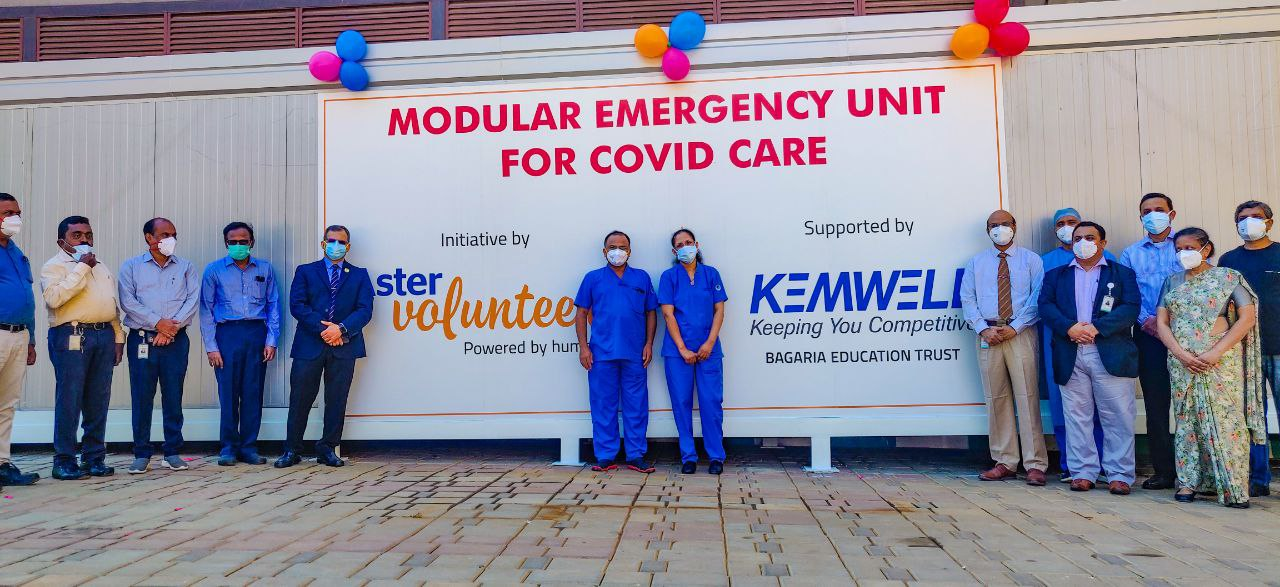 Aster RV Hospital Bangalore launches free of cost Modular Emergency Unit to help COVID patients