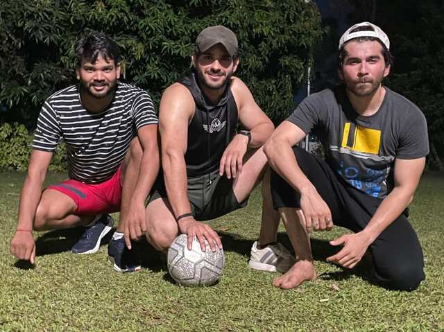 Post pack up is football time - Jeevansh Chadha