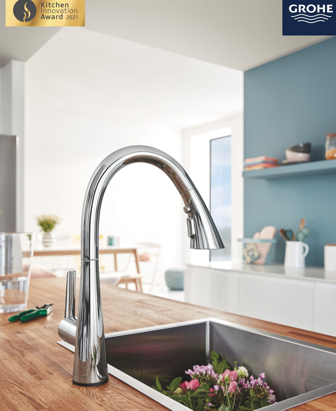 Zedra Kitchen Faucet by GROHE Wins the Kitchen Innovation Award 2021