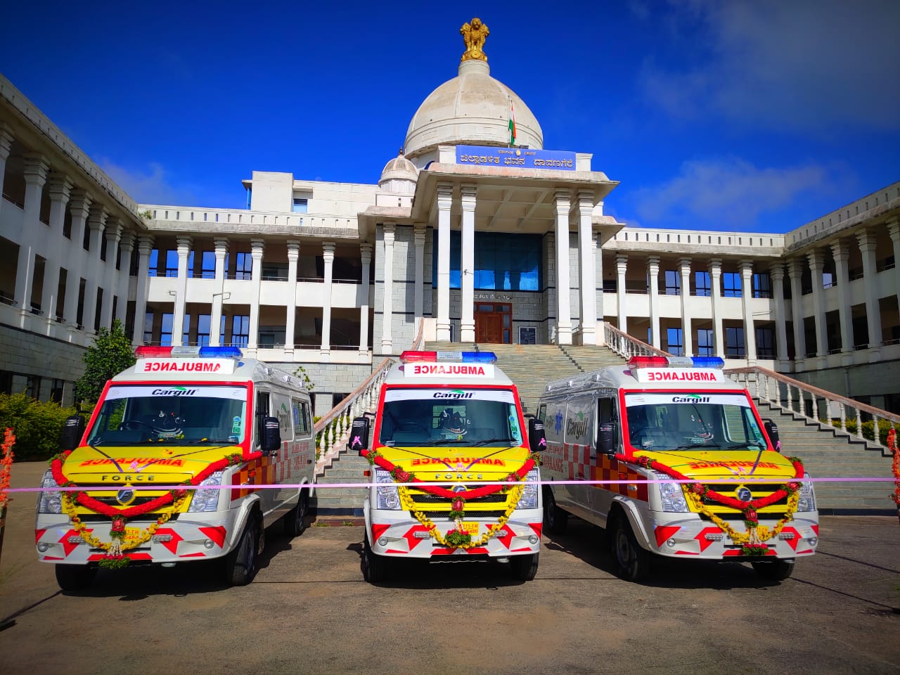 Cargill Donates 3 Advance Life Support (ALS) Ambulances to district health authorities