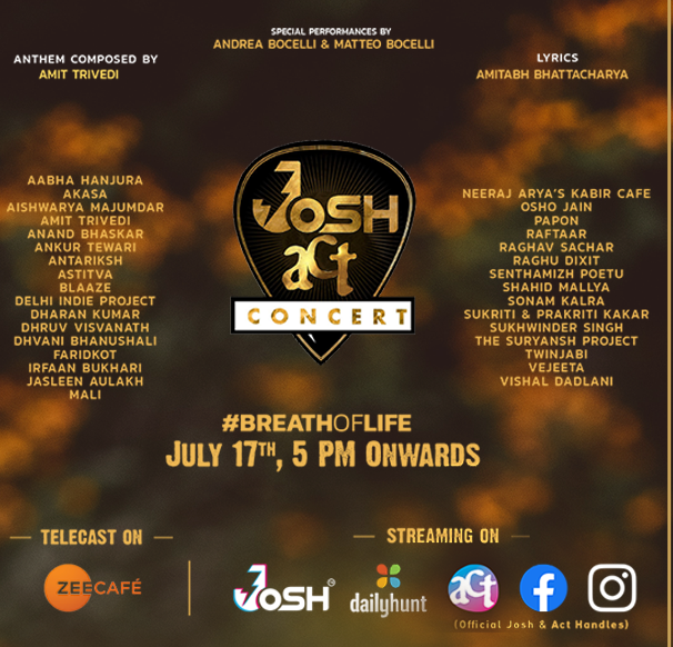 Josh collaborates with ACT Grants to unite Bharat for a cause at the Josh ACT Concert