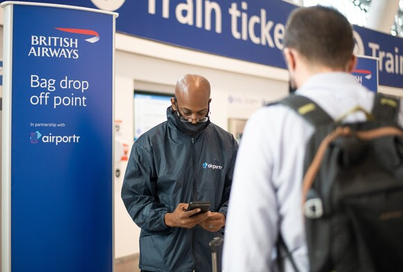 British Airways offers its customers a new fast bag-drop before check-in to avoid queues