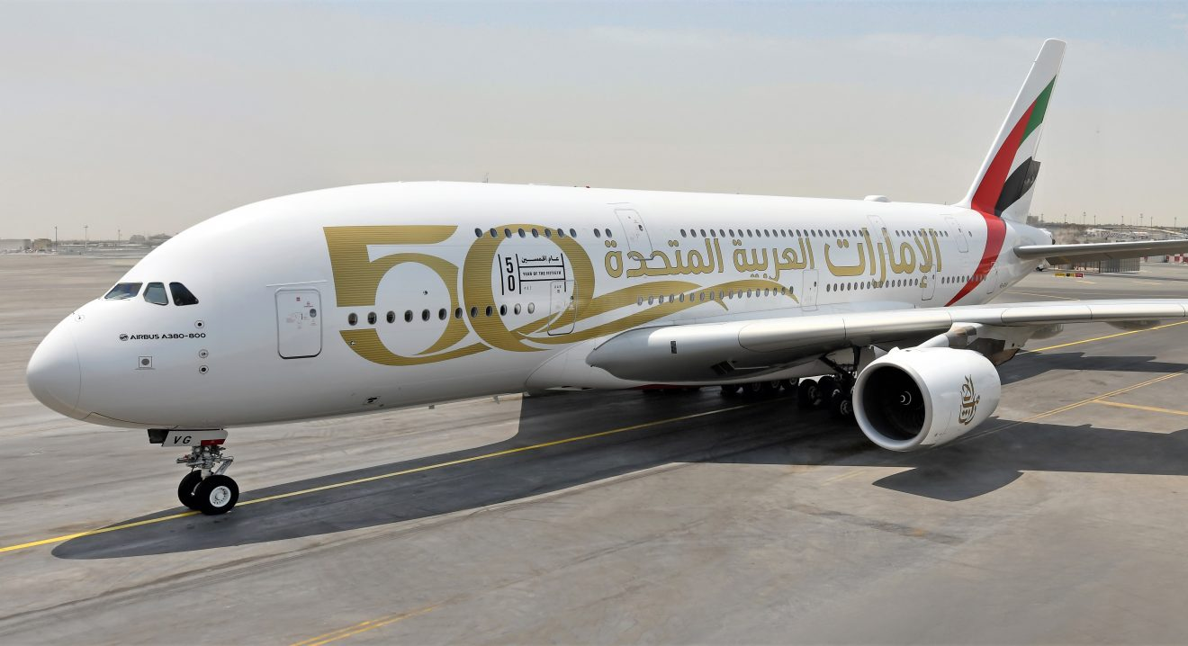 Emirates rolls out custom liveries to mark the UAE's 50th anniversary